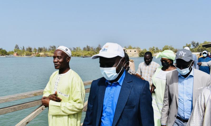 Revivez en images la visite de terrain du DG DE l'ONAS à Joal